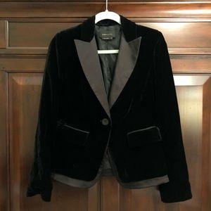 BCBGMaxAzria black velvet blazer, small